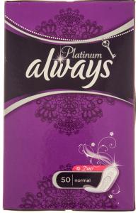 Absorbante zilnice Always Platinum Deo Normal 50buc