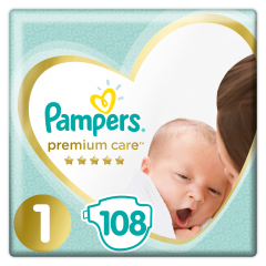 Scutece Pampers Premium Care, 1 Nou Nascut, 2-5 Kg, 108buc