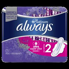 Absorbante igienice Always Platinum Ultra Super Plus, nr.2, 7bucati