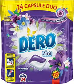 Detergent automat capsule Dero Duo Caps Lavanda, 24 spalari, 24buc