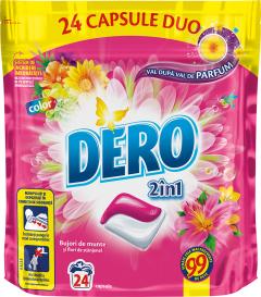 Detergent automat capsule Dero Duo Caps Bujor de munte, 24 spalari, 24buc