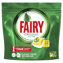 Detergent de vase capsule Fairy All in One, 22buc