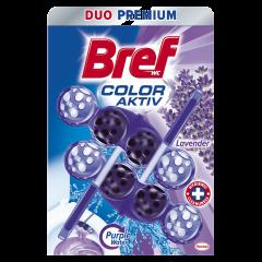 Odorizant toaleta Bref Purple Aktiv Lavanda, 2x50g
