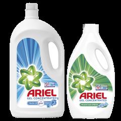 Pachet detergent automat: Ariel Touch of Lenor Fresh, 60 spalari, 3,3l + Ariel Mountain, 40 spalari, 2,2l