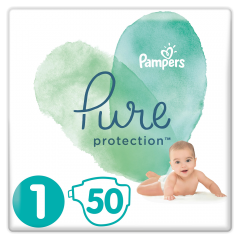 Scutece Pampers Pure Protection S1 2-5 kg 50 buc
