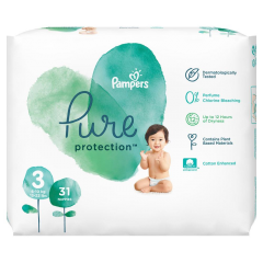 Scutece Pampers Pure Protection S3 6-10 kg 31 buc