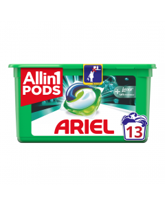 Detergent automat capsule Ariel 3in1 PODs +Touch Of Lenor Unstoppables, 13 spalari, 13 buc