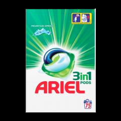 Detergent automat capsule Ariel 3in1 PODs Mountain Spring, 75 spalari, 75 buc