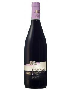 Vin rosu demisec Recas Castel Huniade Merlot 0.75L