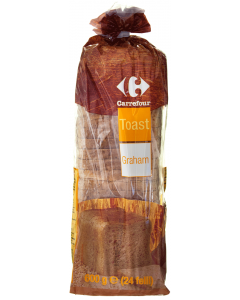 Toast graham, feliat Carrefour 600g