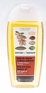 Gel de dus nutritiv cu ulei de argan extra pur Les  Cosmetiques Nectar of Nature 250ml