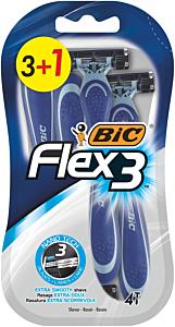 Aparat de ras pentru barbati cu 3lame Bic Flex3 3+1buc