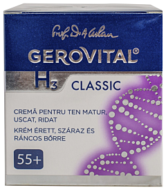 Crema pentru ten matur, uscat, ridat 55+ Gerovital H3 Classic 50 ml