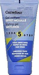 Gel pentru par cu efect umed Carrefour 150ml