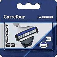 Rezerva aparat de ras 3 lame Carrefour 4 bucati