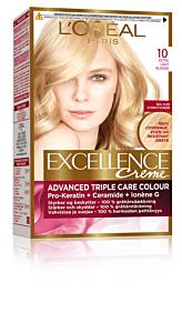 Vopsea de par blond foarte foarte deschis 10 L'Oreal Excellence Creme 192ml