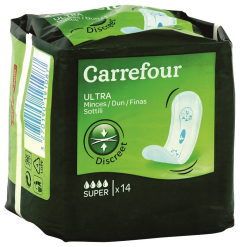 Absorbante Carrefour Ultra Super-Fine 14buc