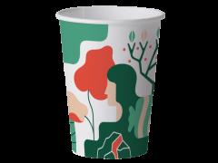 Set de 15 pahare biodegradabile artwork 480ml
