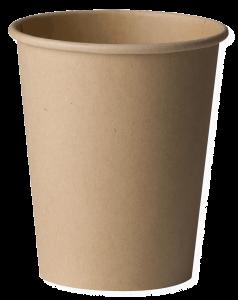 Set de 15 pahare biodegradabile kraft 120ml