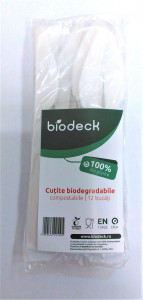 Set de 12 cutite biodegradabile 17 cm