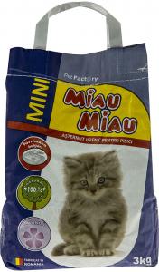 Asternut igienic pentru pisici cu aroma de lavanda Miau Miau 3kg