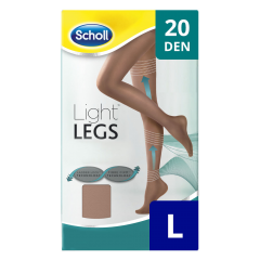 Ciorapi compresivi 20 DEN bej, marime L Scholl Light Legs