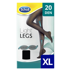 Ciorapi compresivi 20 DEN negru, marime XL Scholl Light Legs
