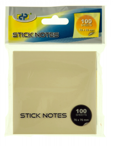 Notes adeziv Snopake Stick Notes, 76x76mm, 100file/bucata