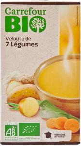 Supa bio de legume de tara Carrefour Bio 1L
