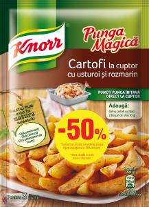 Punga magica cartofi  Knorr 60g 1+1/2 gratis