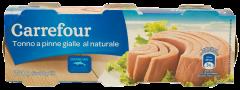 Ton bucati natur Carrefour set 80gx3bucati