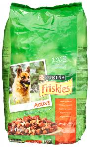 Hrana completa cu carne pentru caini adulti Purina Friskies 2.4kg