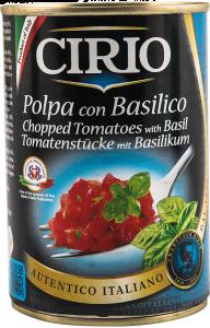 Cirio Polpa con Basilico 400g
