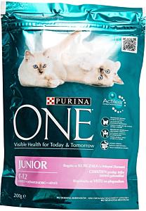 Hrana pentru puii de pisica  cu pui si cereale One One Junior Purina 200 g