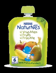 Piure 4 fructe pentru sugari NaturNes de la 6 luni Nestle 90g
