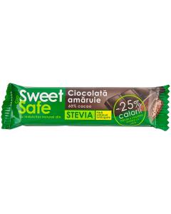 Ciocolata amaruie Sweet & Safe 25g