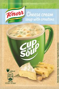 Supa instant Crema cu branza si crutoane Knorr Cup a Soup 22g