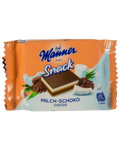 Napolitane cu ciocolata si cocos Manner 25G
