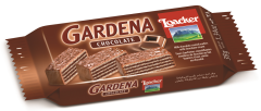 Napolitane glazurate cu ciocolata cu lapte si umplute cu crema de ciocolata Loacker 38g