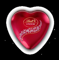 Praline cu lapte in cutie metalica in forma de inima 62g Lindt