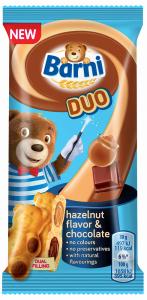 Prajitura cu crema de ciocolata si alune Barni 30g