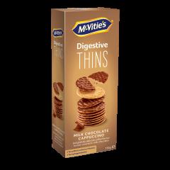Biscuiti din faina de grau cu aroma de cafea acoperiti cu ciocolata lapte  Mcvitie's150g