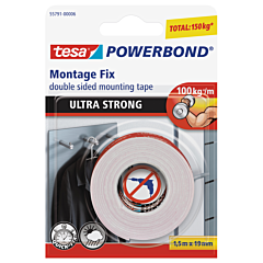 Powerbond Banda dublu adeziva Ultra Strong 1,5M19MM, alb, Tesa