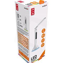Lampa de birou LED RGB, alb, Avide