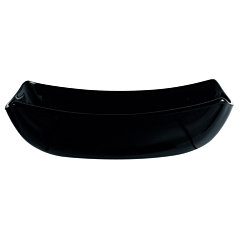 Farfurie adanca 20 cm opal Quadrato negru, Luminarc
