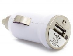 Incarcator auto USB CML 201 E-boda, Alb