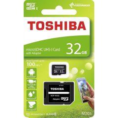 Card de memorie microSD UHS Toshiba, 32GB, clasa10, 100MB/s + Adaptor