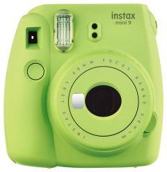 Camera foto instant Mini 9 Fujifilm, blitz integrat, 2 letile f:60, sistem manual, verde