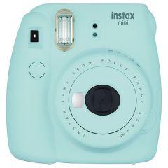 Camera foto instant Mini 9 Fujifilm, blitz integrat, 2 letile f:60, sistem manual, bleu