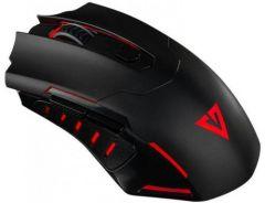 Mouse Gaming MC-0GMX4 Modecom Vulcano, Optic, 8 Butoane 7200DPI, Iluminare LED, Negru/Rosu
